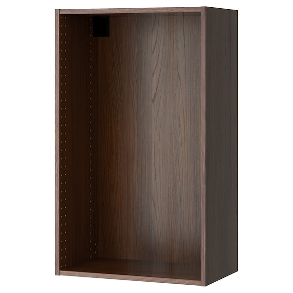 SEKTION Wall cabinet frame, wood effect brown, 24x14 3/4x40 ""