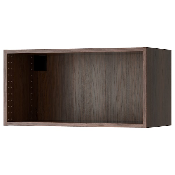 SEKTION Wall cabinet frame, wood effect brown, 30x14 3/4x15 ""