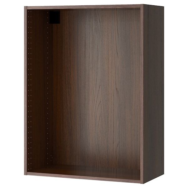 """SEKTION Wall cabinet frame, wood effect brown, 30x14 3/4x40 """""""