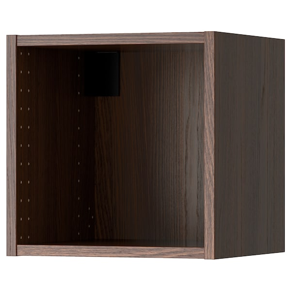 """SEKTION wall cabinet frame wood effect brown 14 3/8 """" 14 3/4 """" 15 """" 14 3/4 """" 14 3/4 """" 15 """" 3/4 """""""