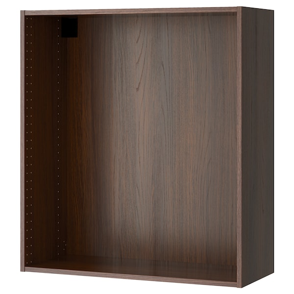 """SEKTION wall cabinet frame wood effect brown 14 3/8 """" 14 3/4 """" 36 """" 14 3/4 """" 14 3/4 """" 40 """" 3/4 """""""