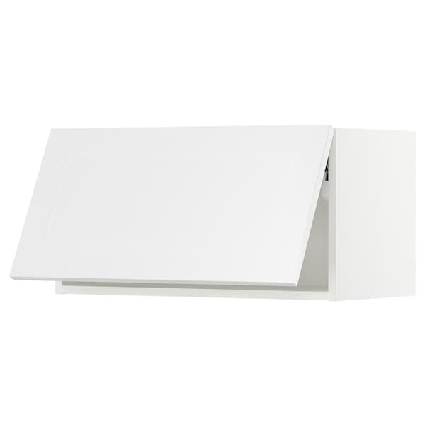 "SEKTION Wall cabinet horizontal w push-open, white/Axstad matt white, 30x15x15 """