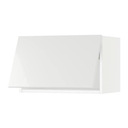 Sektion Wall Cabinet Horizontal White Ringhult High Gloss White 24x15x15 Ikea