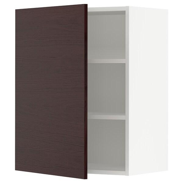"""SEKTION Wall cabinet, white Askersund/dark brown ash effect, 24x15x30 """""""