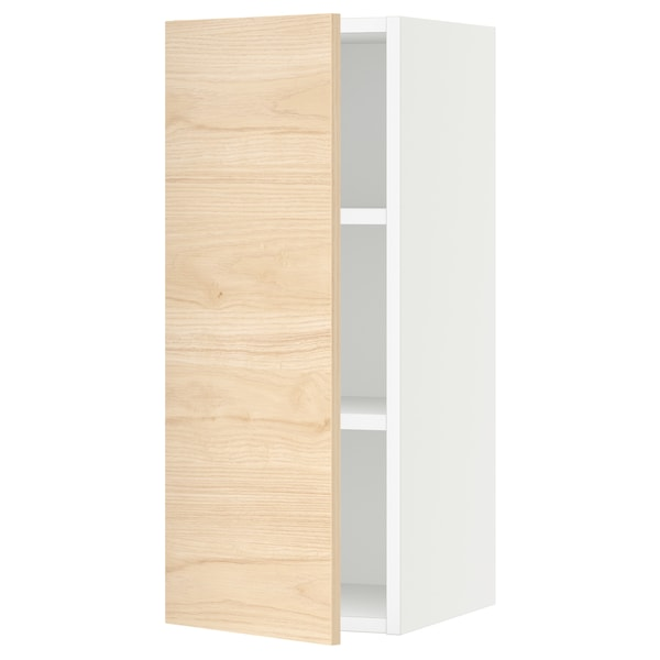SEKTION Wall cabinet, white/Askersund light ash effect, 12x15x30 ""