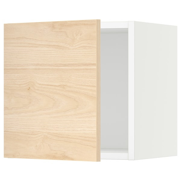 SEKTION Wall cabinet, white/Askersund light ash effect, 15x15x15 ""