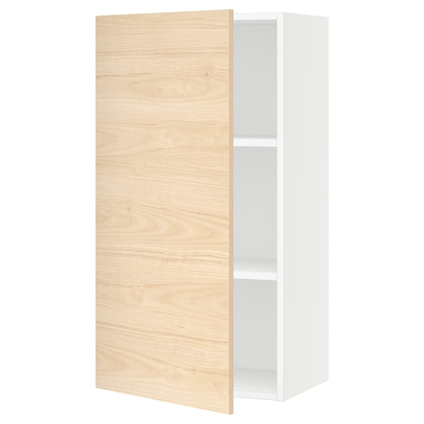 SEKTION Wall cabinet, white/Askersund light ash effect, 21x15x40 ""