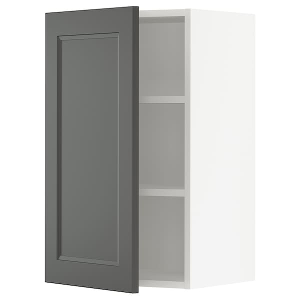 SEKTION Wall cabinet, white/Axstad dark gray, 18x15x30 ""