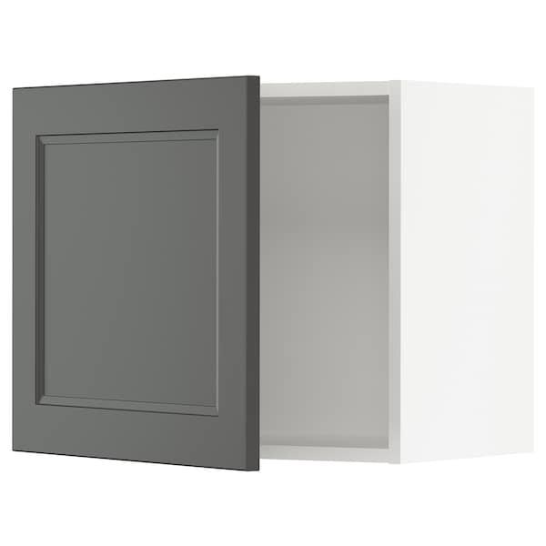 "SEKTION Wall cabinet, white/Axstad dark gray, 24x15x20 """