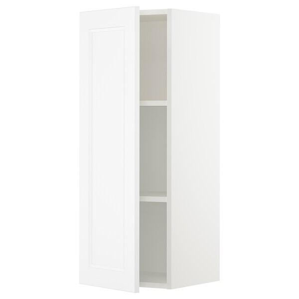"SEKTION Wall cabinet, white/Axstad matt white, 15x15x40 """