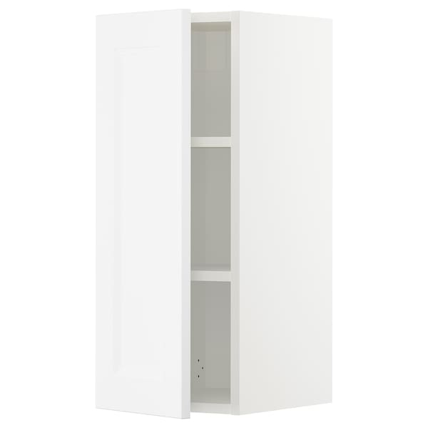 "SEKTION Wall cabinet, white/Axstad matt white, 12x15x30 """