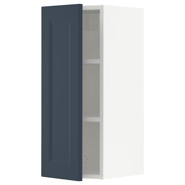 SEKTION Wall cabinet, white Axstad/matte blue, 12x15x30 ""