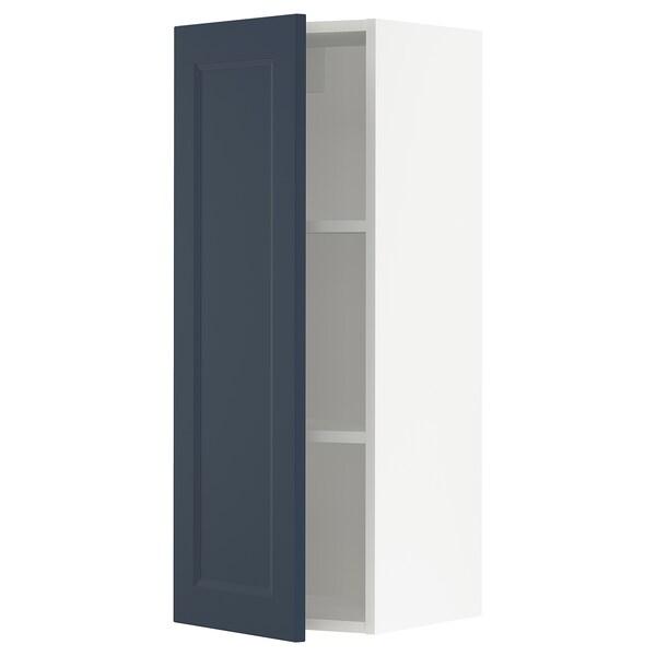 "SEKTION Wall cabinet, white Axstad/matte blue, 15x15x40 """
