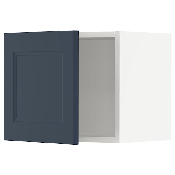 SEKTION Wall cabinet, white Axstad/matte blue, 18x15x15 ""