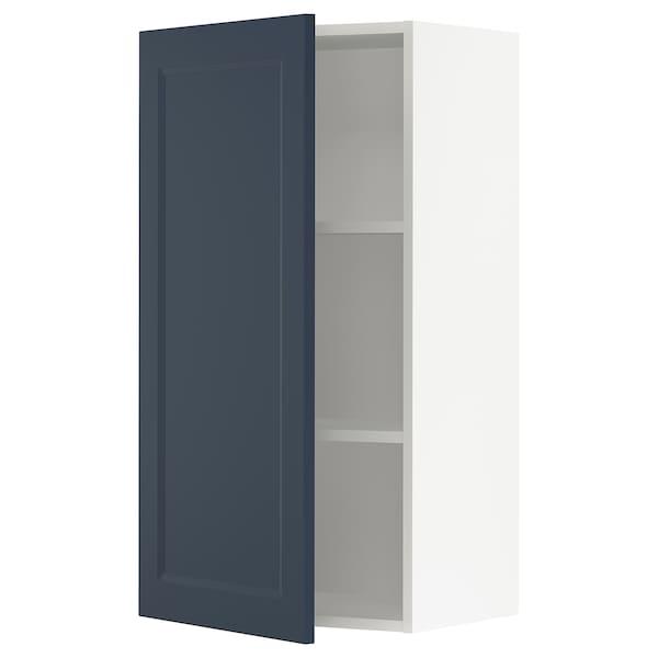 "SEKTION Wall cabinet, white Axstad/matte blue, 21x15x40 """