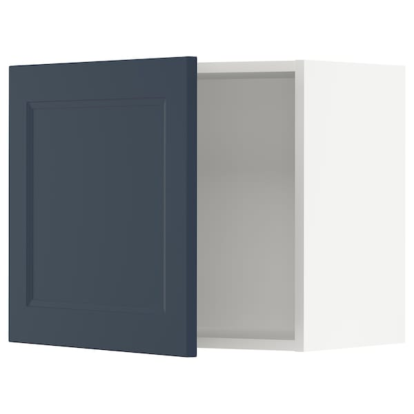 "SEKTION Wall cabinet, white Axstad/matte blue, 24x15x20 """