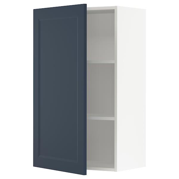 "SEKTION Wall cabinet, white Axstad/matte blue, 24x15x40 """