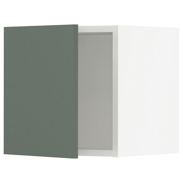 "SEKTION Wall cabinet, white/Bodarp gray-green, 15x15x15 """