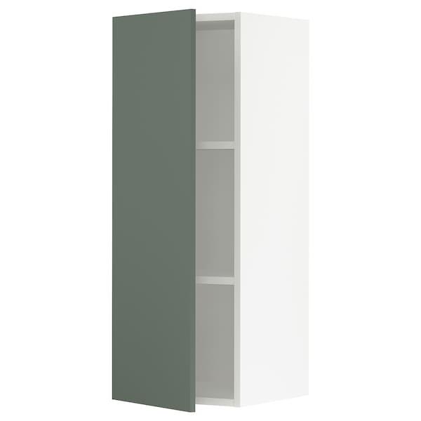 "SEKTION Wall cabinet, white/Bodarp gray-green, 15x15x40 """
