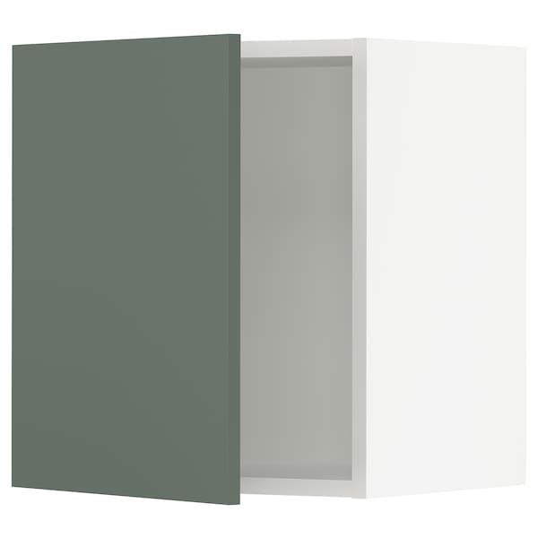 "SEKTION Wall cabinet, white/Bodarp gray-green, 18x15x20 """