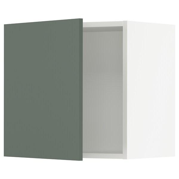 "SEKTION Wall cabinet, white/Bodarp gray-green, 21x15x20 """
