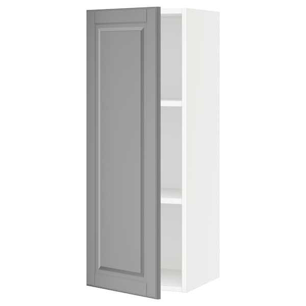 SEKTION Wall cabinet, white/Bodbyn gray, 15x15x40 ""