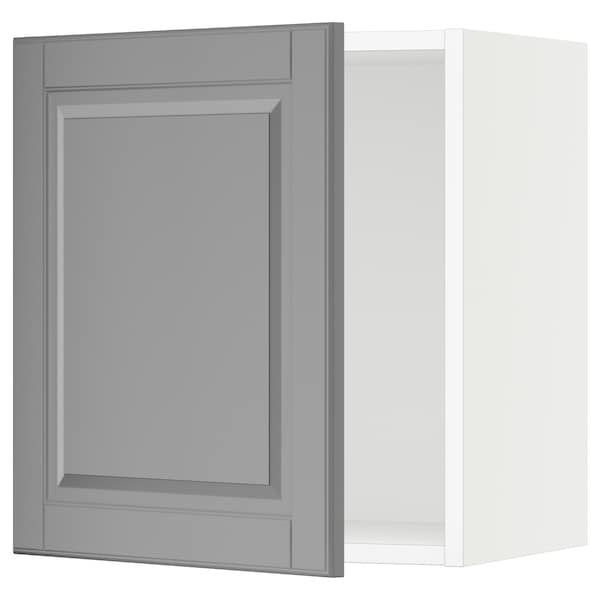"SEKTION Wall cabinet, white/Bodbyn gray, 18x15x20 """
