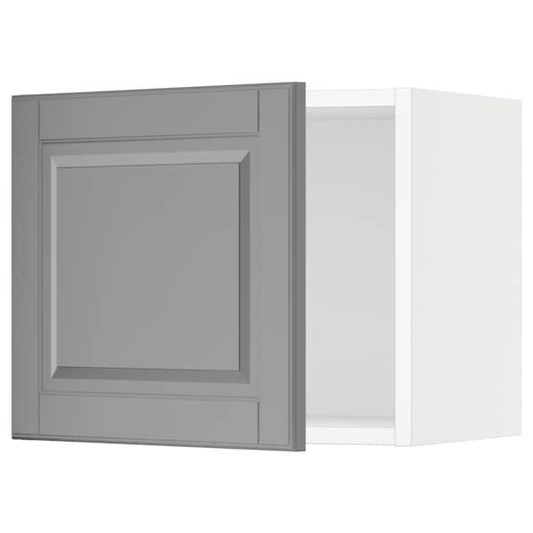 "SEKTION Wall cabinet, white/Bodbyn gray, 18x15x15 """