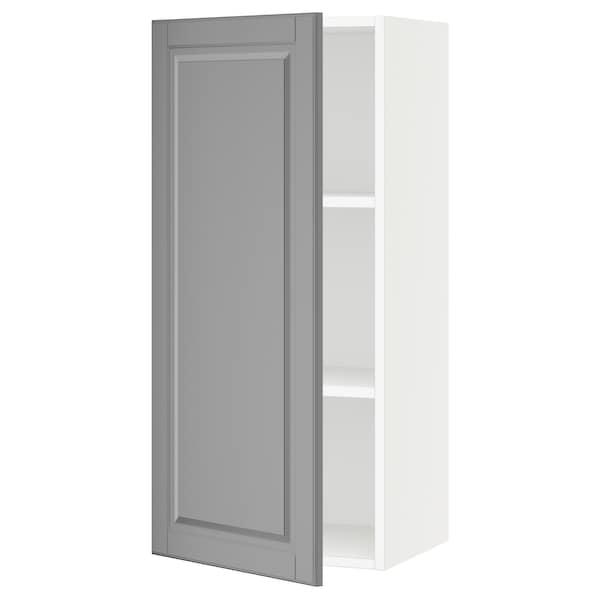 "SEKTION Wall cabinet, white/Bodbyn gray, 18x15x40 """