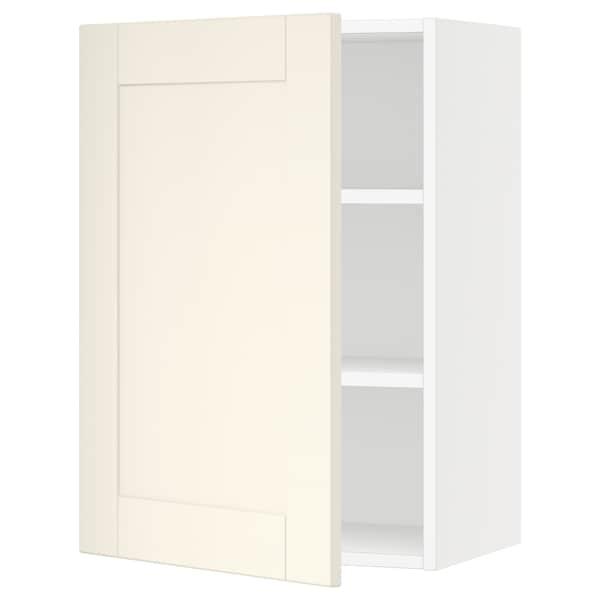 "SEKTION Wall cabinet, white/Grimslöv off-white, 21x15x30 """
