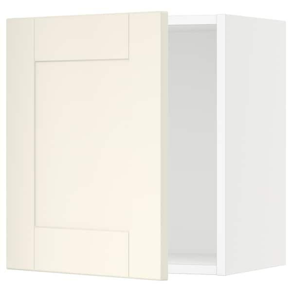 "SEKTION Wall cabinet, white/Grimslöv off-white, 18x15x20 """