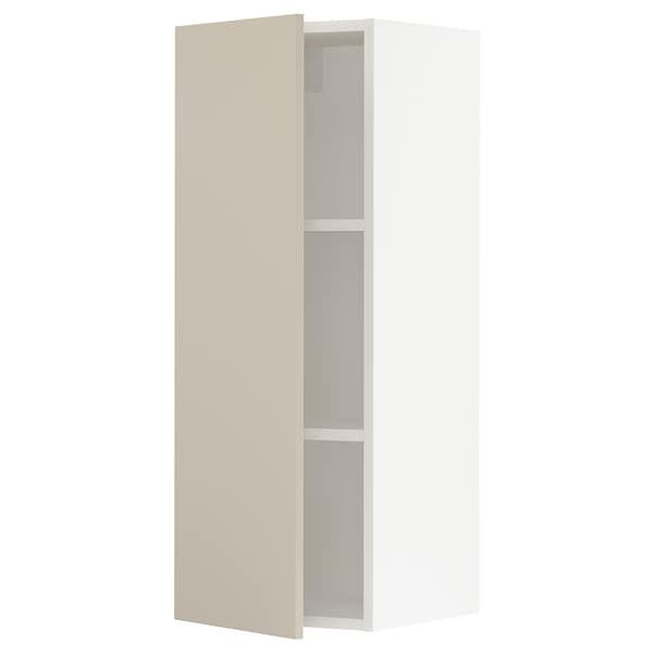 """SEKTION Wall cabinet, white/Havstorp beige, 15x15x40 """""""