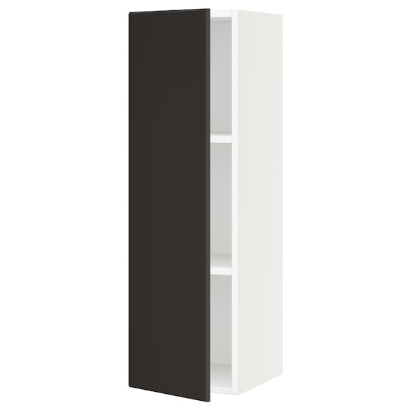 """SEKTION Wall cabinet, white/Kungsbacka anthracite, 12x15x40 """""""
