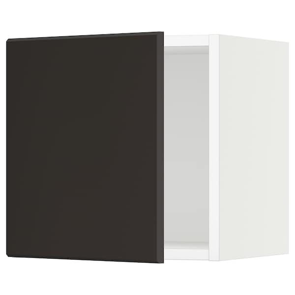 SEKTION Wall cabinet, white/Kungsbacka anthracite, 15x15x15 ""
