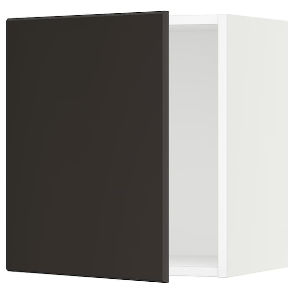 """SEKTION Wall cabinet, white/Kungsbacka anthracite, 18x15x20 """""""