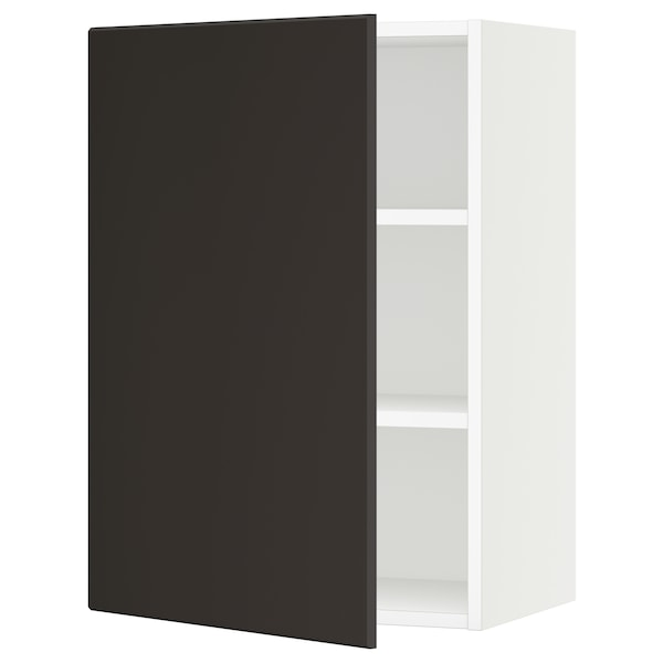 """SEKTION Wall cabinet, white/Kungsbacka anthracite, 21x15x30 """""""