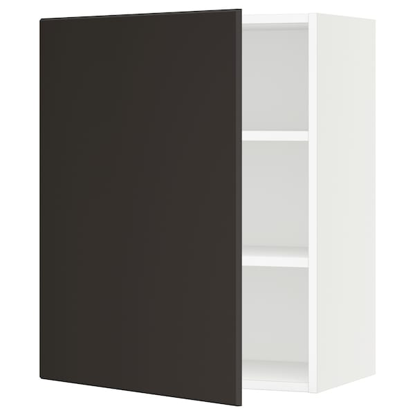 """SEKTION Wall cabinet, white/Kungsbacka anthracite, 24x15x30 """""""
