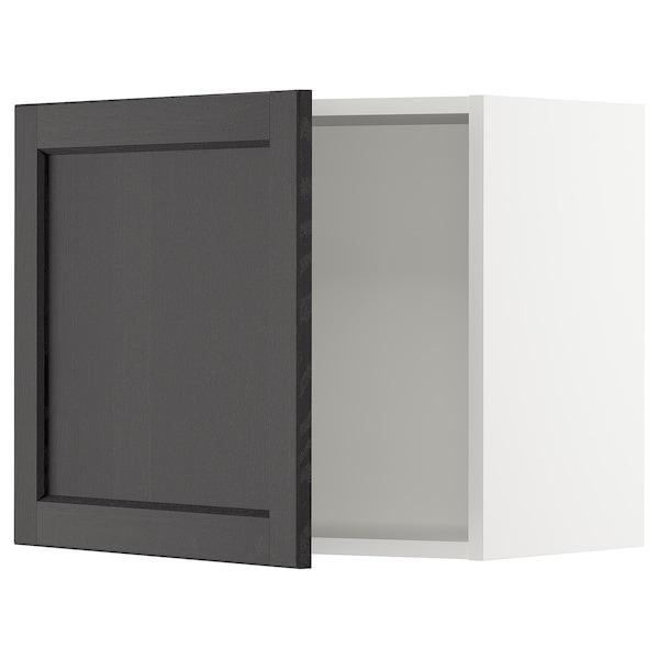 "SEKTION Wall cabinet, white/Lerhyttan black stained, 24x15x20 """