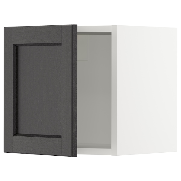 SEKTION Wall cabinet, white/Lerhyttan black stained, 15x15x15 ""