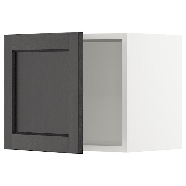"SEKTION Wall cabinet, white/Lerhyttan black stained, 18x15x15 """