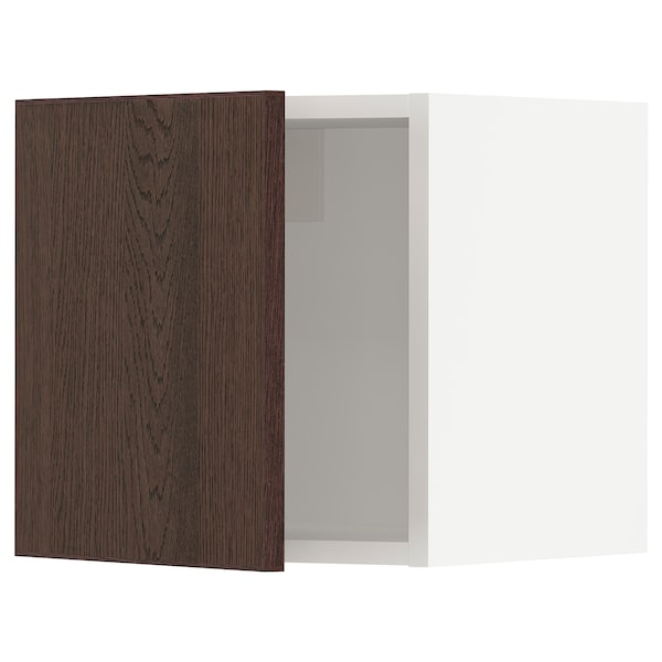 SEKTION Wall cabinet, white/Sinarp brown, 15x15x15 ""