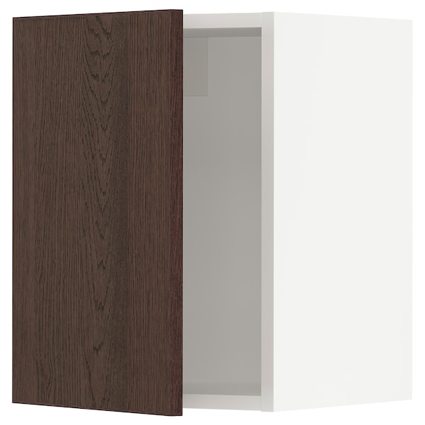 SEKTION Wall cabinet, white/Sinarp brown, 15x15x20 ""
