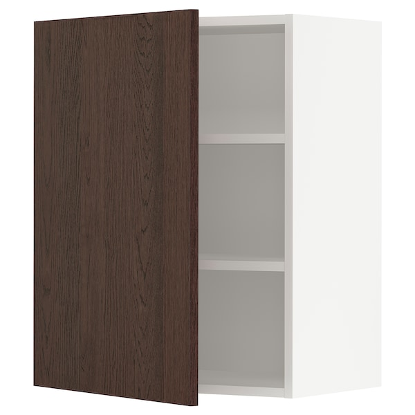 SEKTION Wall cabinet, white/Sinarp brown, 24x15x30 ""