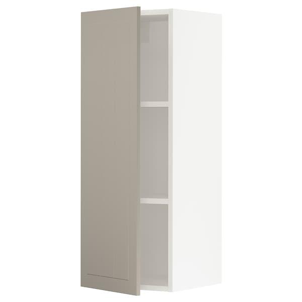 """SEKTION Wall cabinet, white/Stensund beige, 15x15x40 """""""
