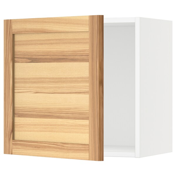"SEKTION Wall cabinet, white/Torhamn ash, 21x15x20 """