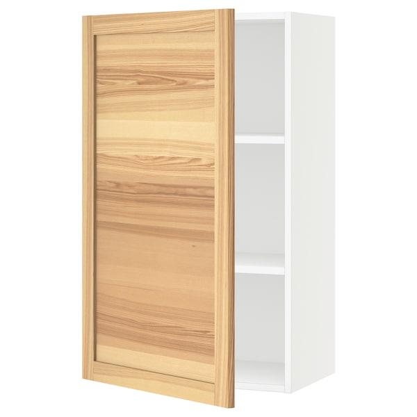 "SEKTION Wall cabinet, white/Torhamn ash, 24x15x40 """