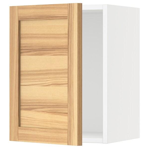 "SEKTION Wall cabinet, white/Torhamn ash, 15x15x20 """