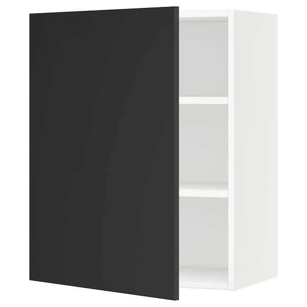 "SEKTION Wall cabinet, white/Uddevalla anthracite, 24x15x30 """