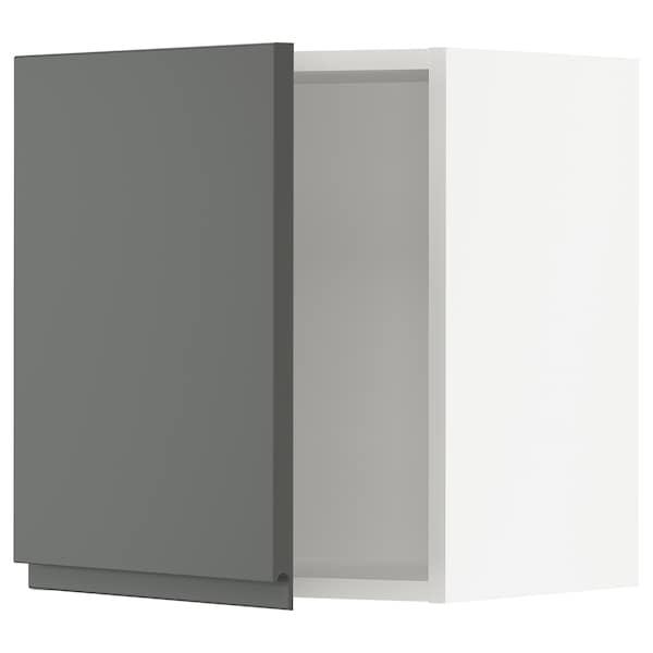 """SEKTION Wall cabinet, white/Voxtorp dark gray, 18x15x20 """""""