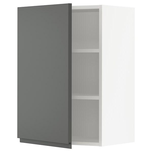 """SEKTION Wall cabinet, white/Voxtorp dark gray, 21x15x30 """""""